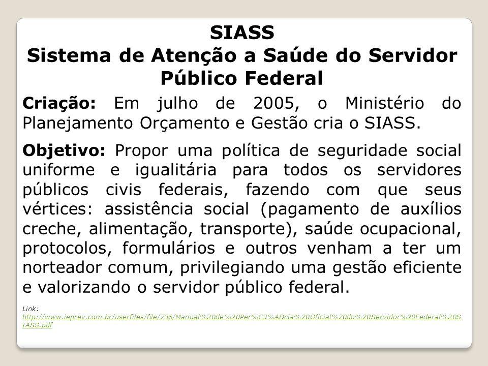 Sistema de Atenção a Saúde do Servidor Público Federal