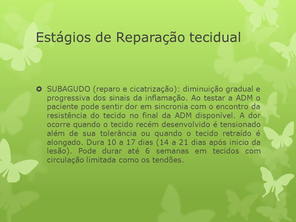 Estágios de Reparação tecidual