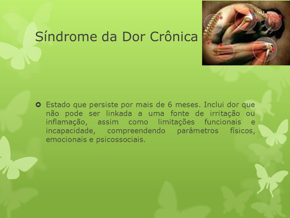 Síndrome da Dor Crônica
