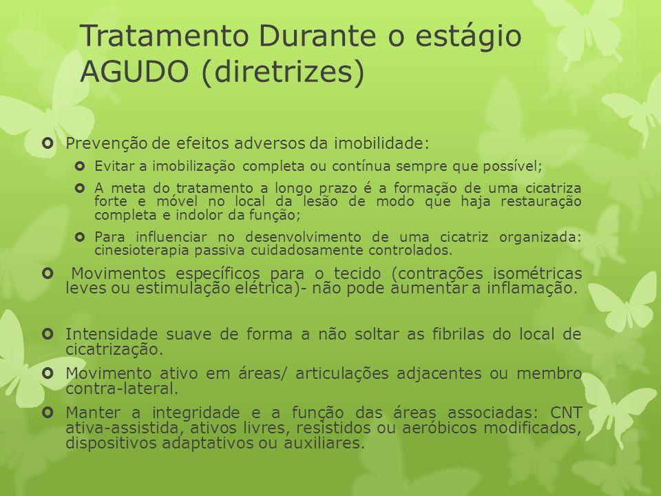 Tratamento Durante o estágio AGUDO (diretrizes)