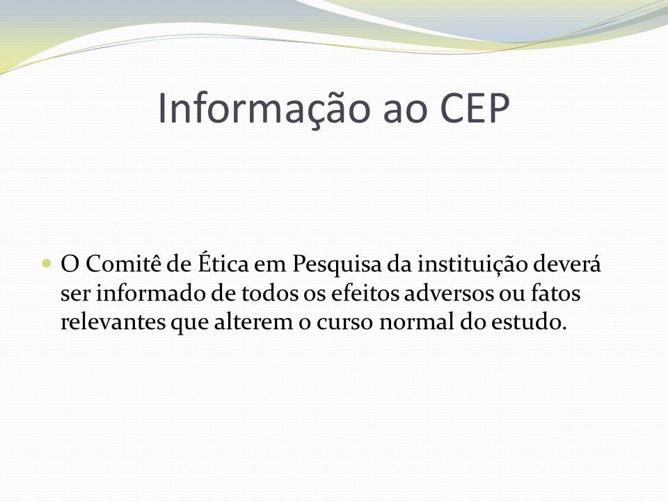 Informação ao CEP