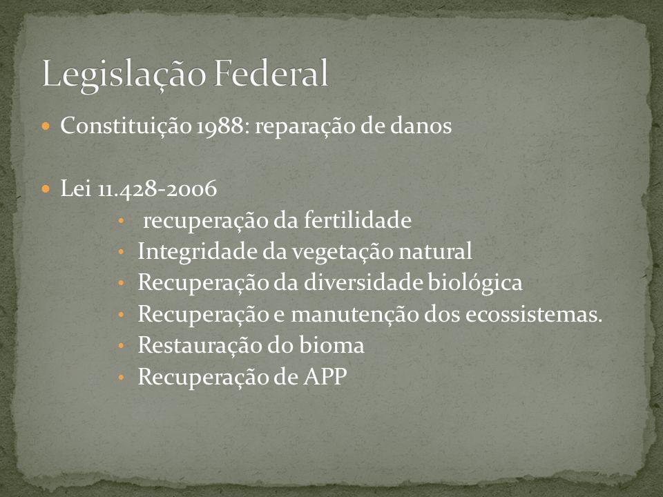 Legislação Federal Constituição 1988: reparação de danos