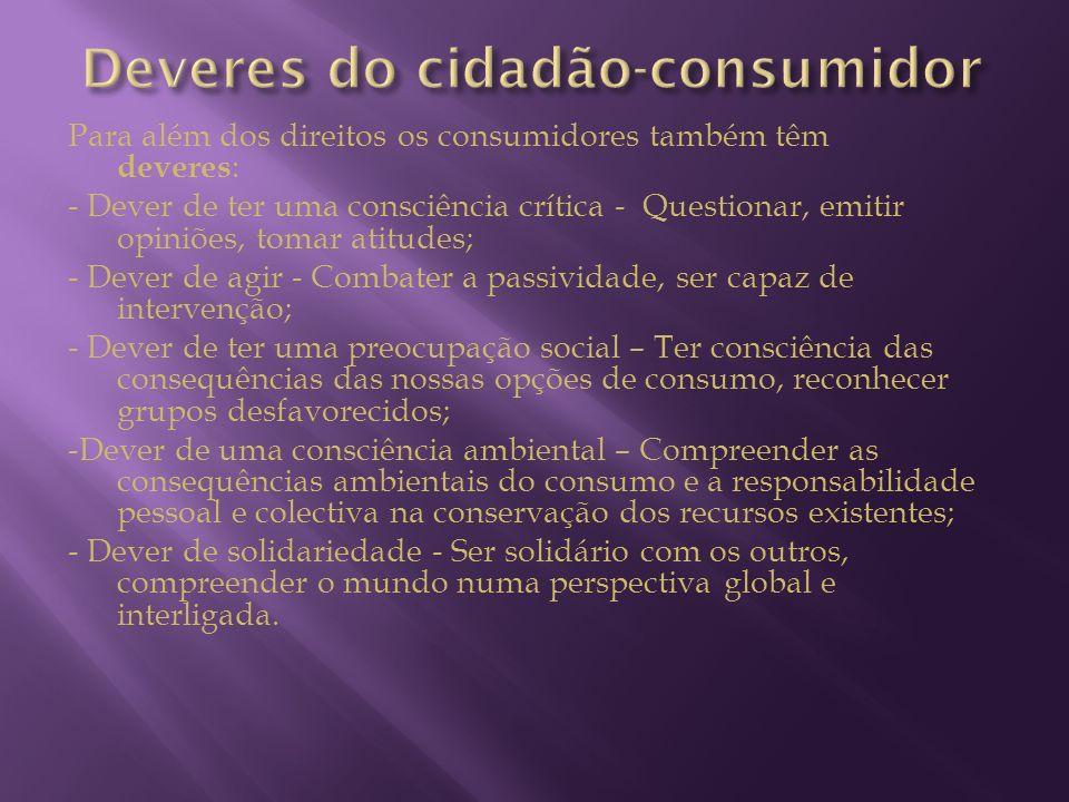 Deveres do cidadão-consumidor