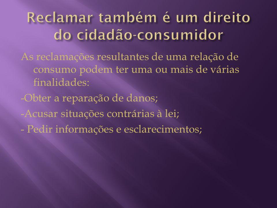 Reclamar também é um direito do cidadão-consumidor