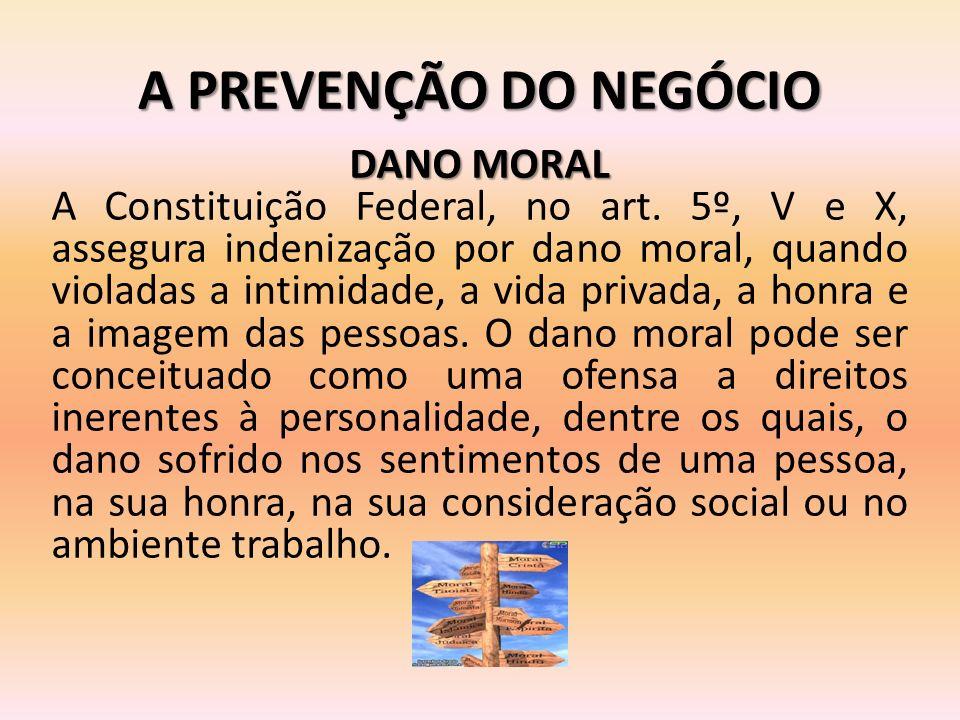 A PREVENÇÃO DO NEGÓCIO DANO MORAL
