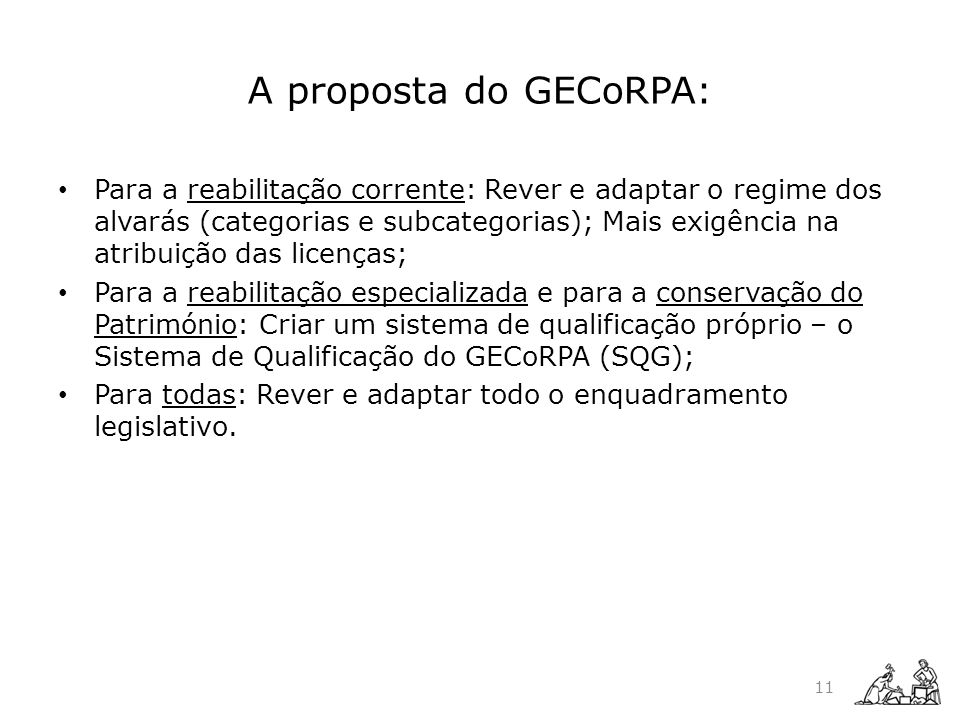 A proposta do GECoRPA: