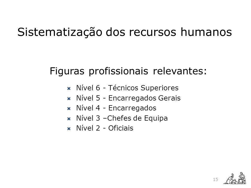 Sistematização dos recursos humanos