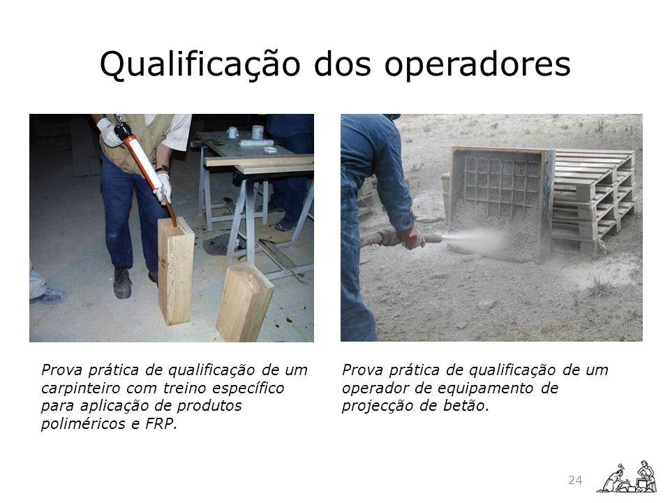 Qualificação dos operadores