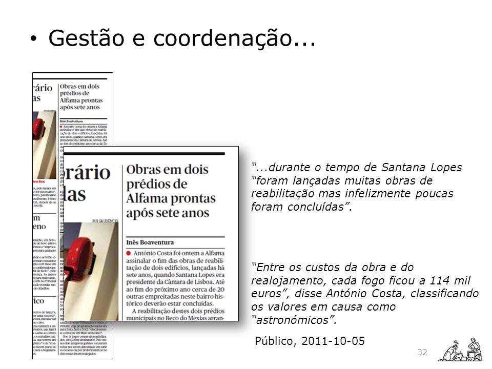 Gestão e coordenação... Inês Boaventura Público, 2011-10-05