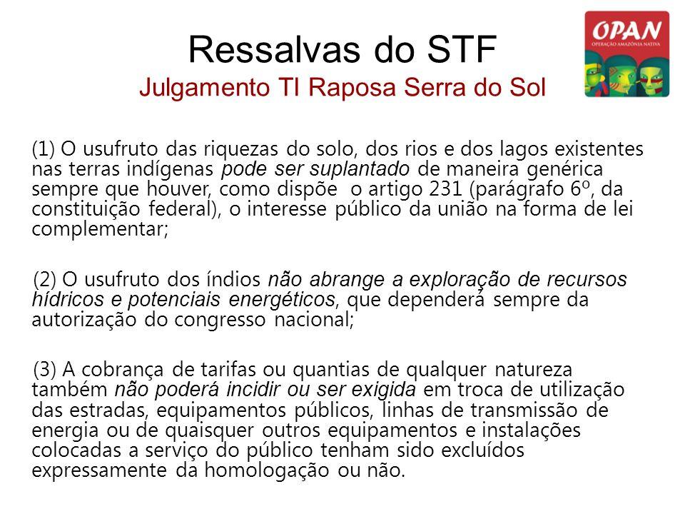 Ressalvas do STF Julgamento TI Raposa Serra do Sol