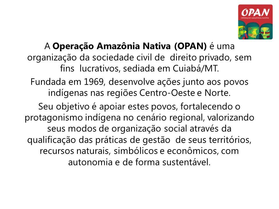 A Operação Amazônia Nativa (OPAN) é uma organização da sociedade civil de direito privado, sem fins lucrativos, sediada em Cuiabá/MT.