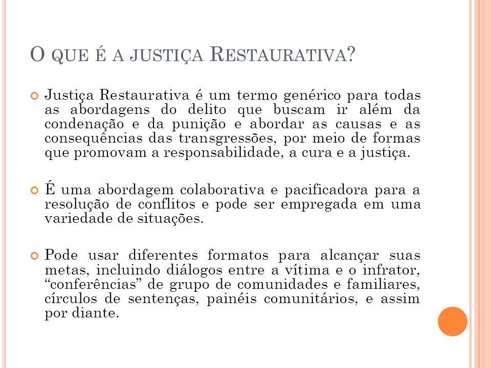 O que é a justiça Restaurativa