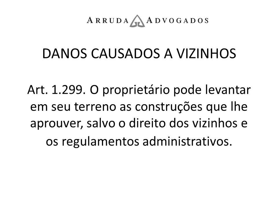 DANOS CAUSADOS A VIZINHOS Art. 1. 299