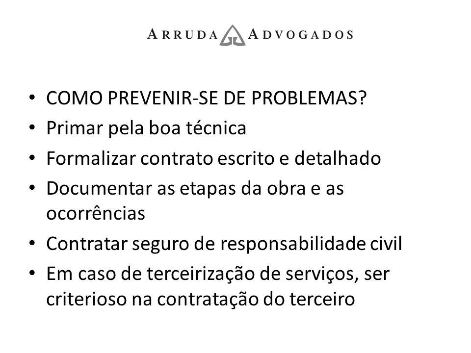COMO PREVENIR-SE DE PROBLEMAS