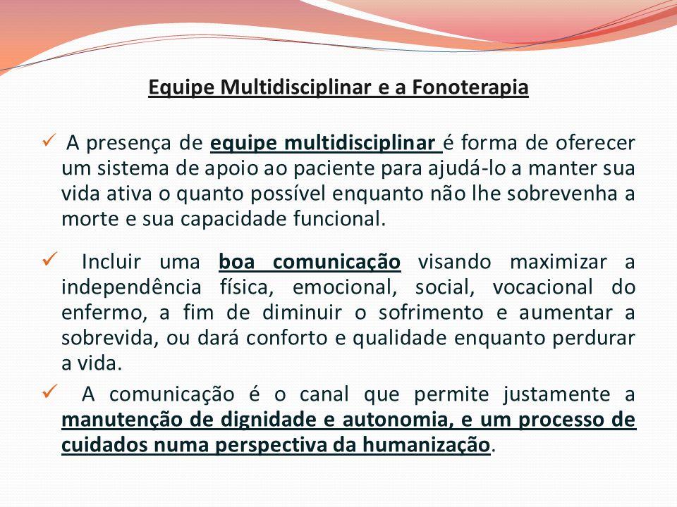 Equipe Multidisciplinar e a Fonoterapia