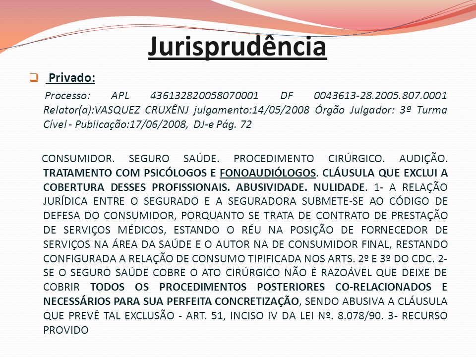 Jurisprudência Privado: