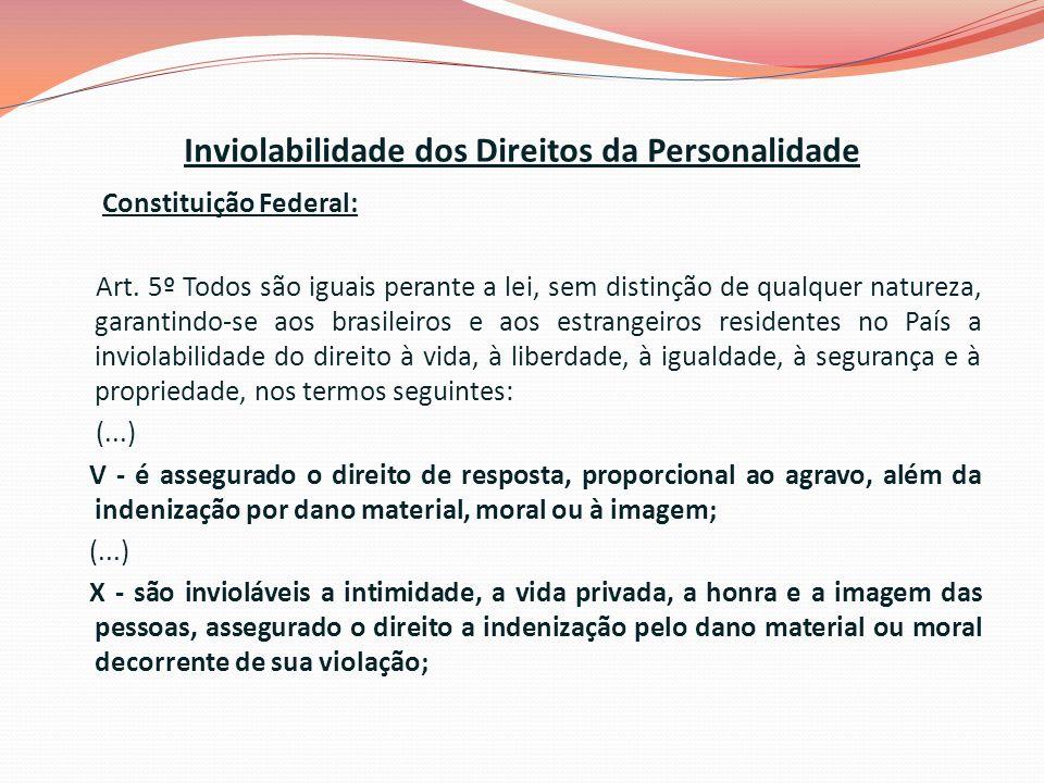 Inviolabilidade dos Direitos da Personalidade