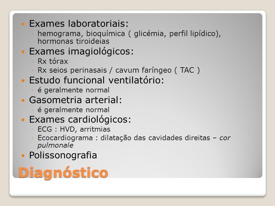 Diagnóstico Exames laboratoriais: Exames imagiológicos: