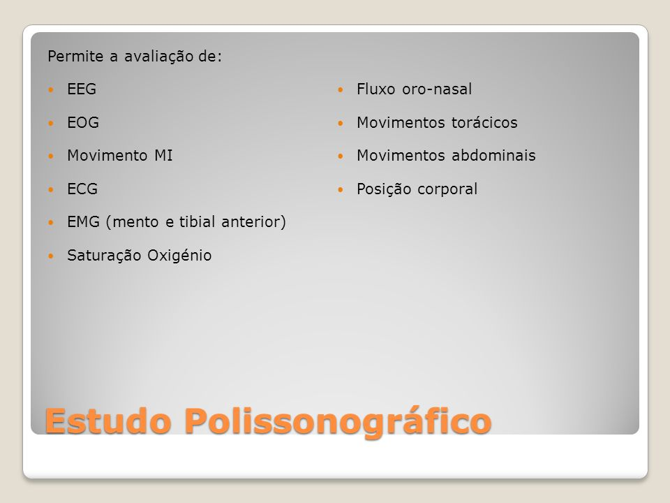 Estudo Polissonográfico