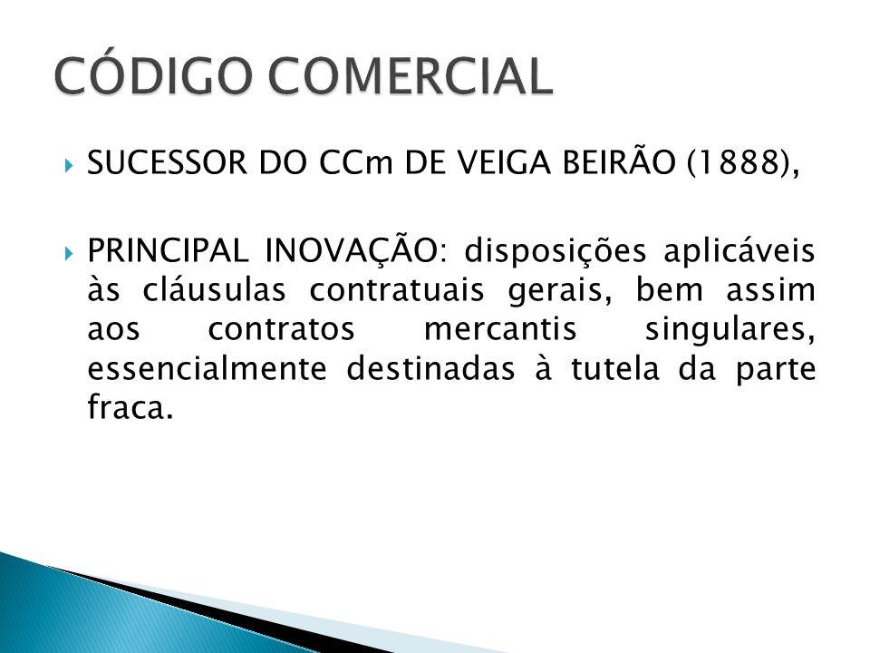 CÓDIGO COMERCIAL SUCESSOR DO CCm DE VEIGA BEIRÃO (1888),