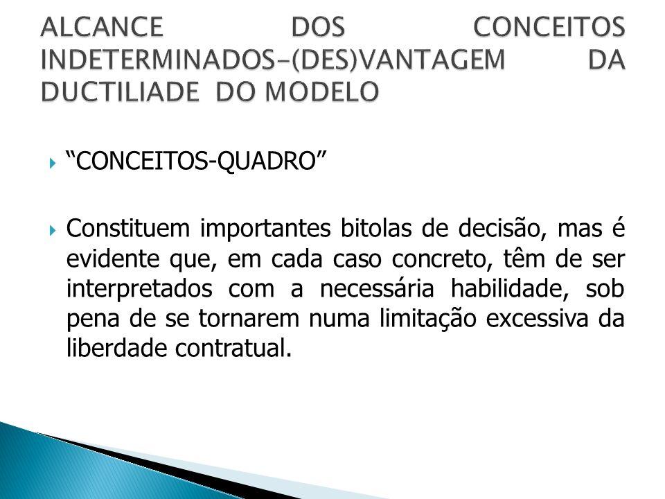 ALCANCE DOS CONCEITOS INDETERMINADOS-(DES)VANTAGEM DA DUCTILIADE DO MODELO