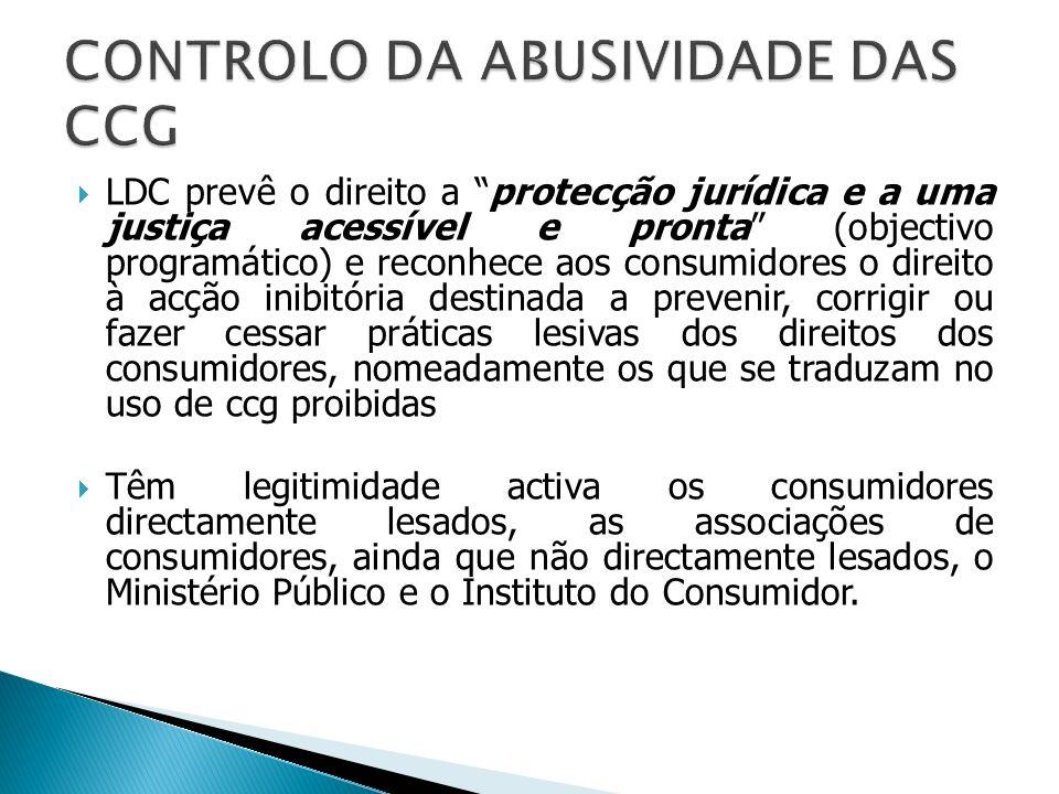 CONTROLO DA ABUSIVIDADE DAS CCG