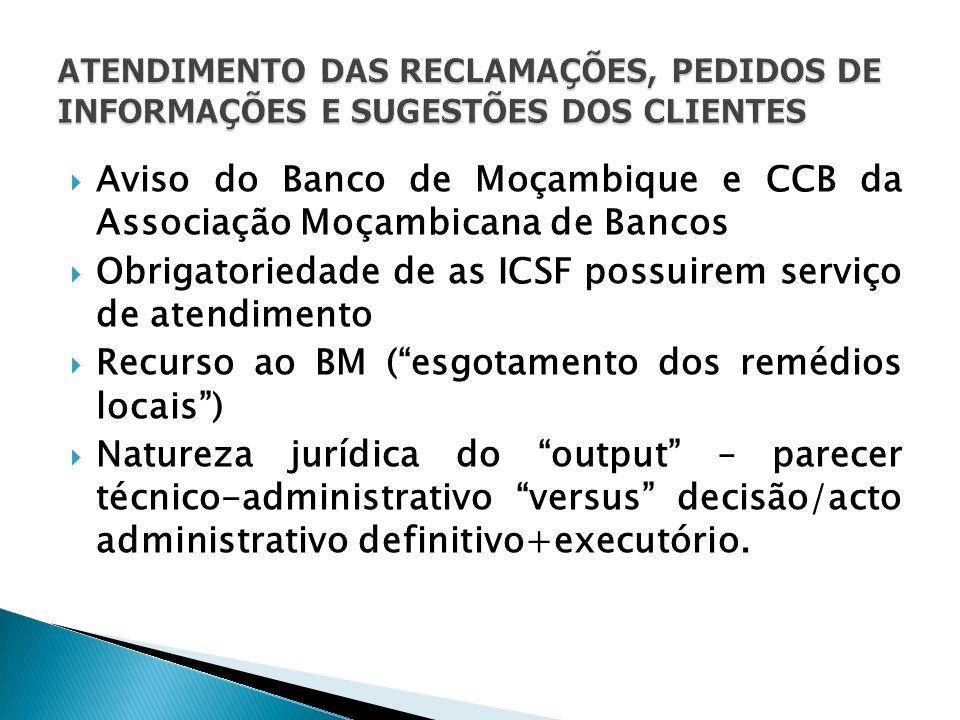 Aviso do Banco de Moçambique e CCB da Associação Moçambicana de Bancos