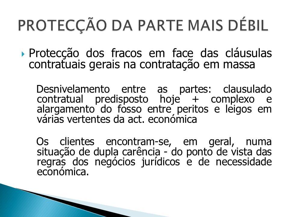 PROTECÇÃO DA PARTE MAIS DÉBIL