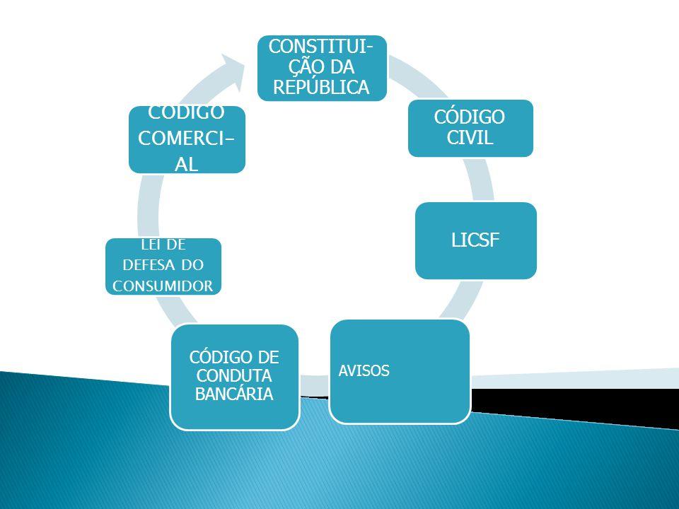 CONSTITUI-ÇÃO DA REPÚBLICA LICSF CÓDIGO CIVIL CÓDIGO COMERCI-AL