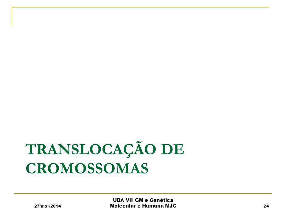 Translocação de cromossomas