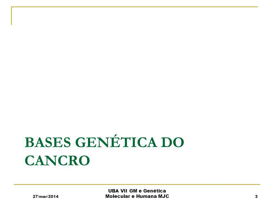 Bases Genética do Cancro