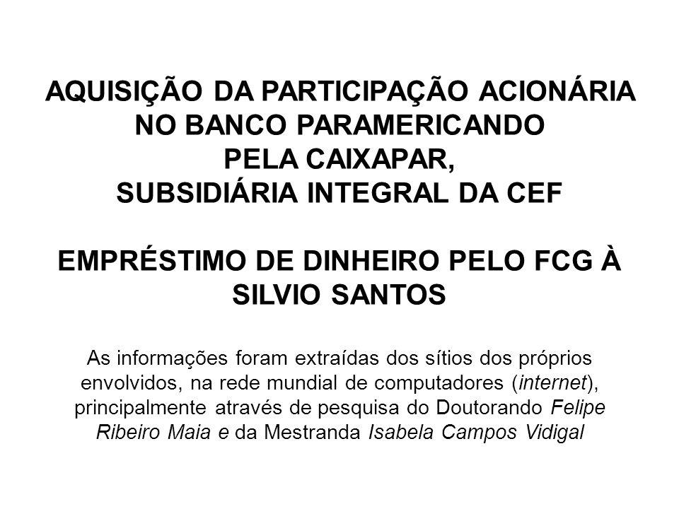 AQUISIÇÃO DA PARTICIPAÇÃO ACIONÁRIA NO BANCO PARAMERICANDO