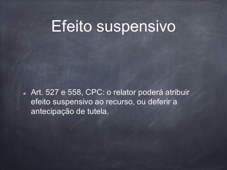 Efeito suspensivo Art.