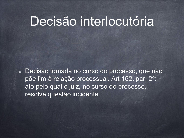 Decisão interlocutória