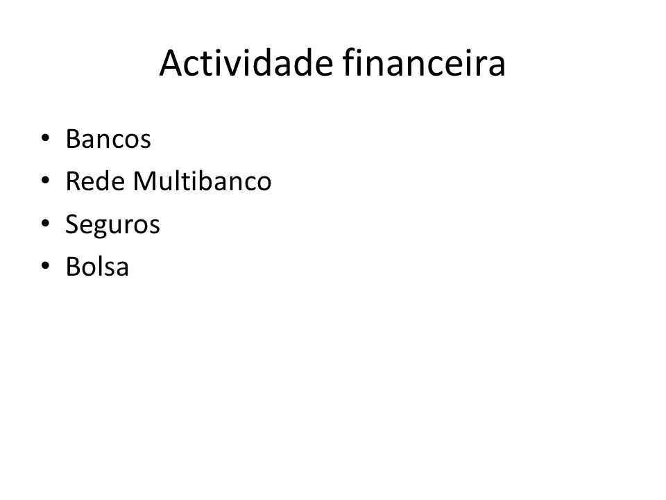 Actividade financeira