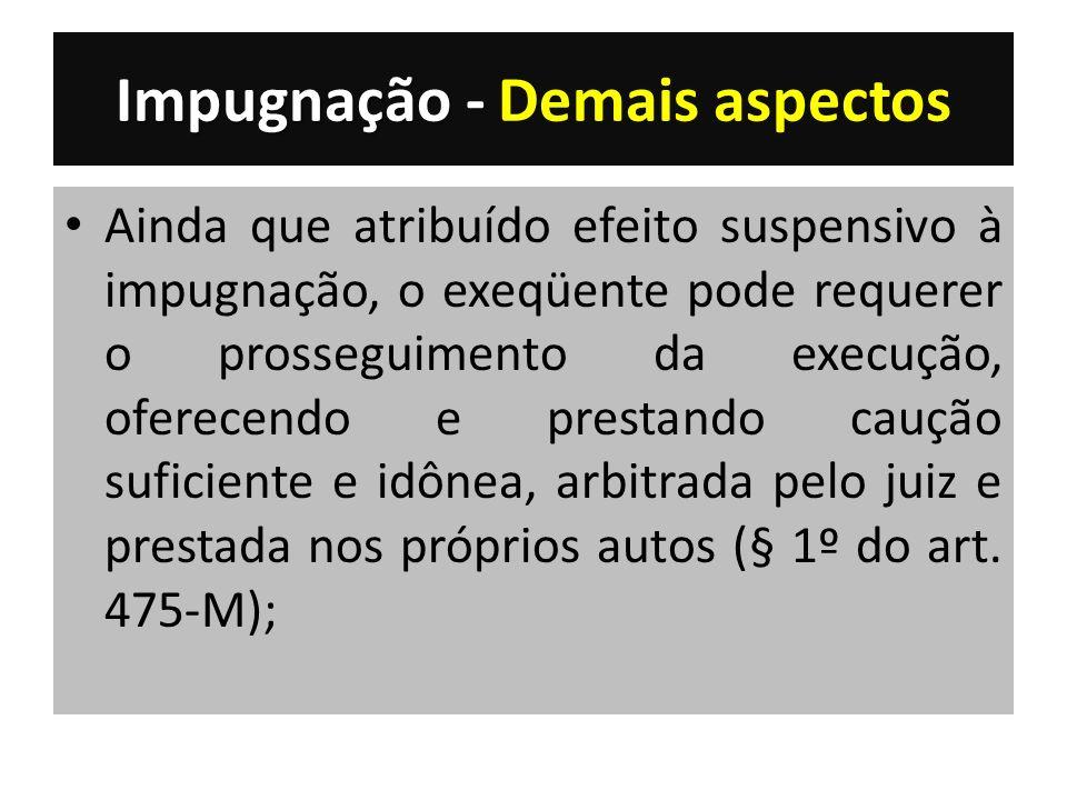 Impugnação - Demais aspectos