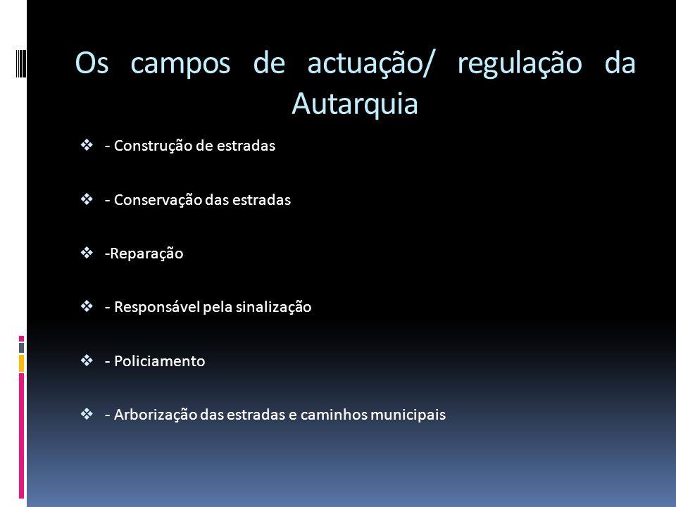 Os campos de actuação/ regulação da Autarquia