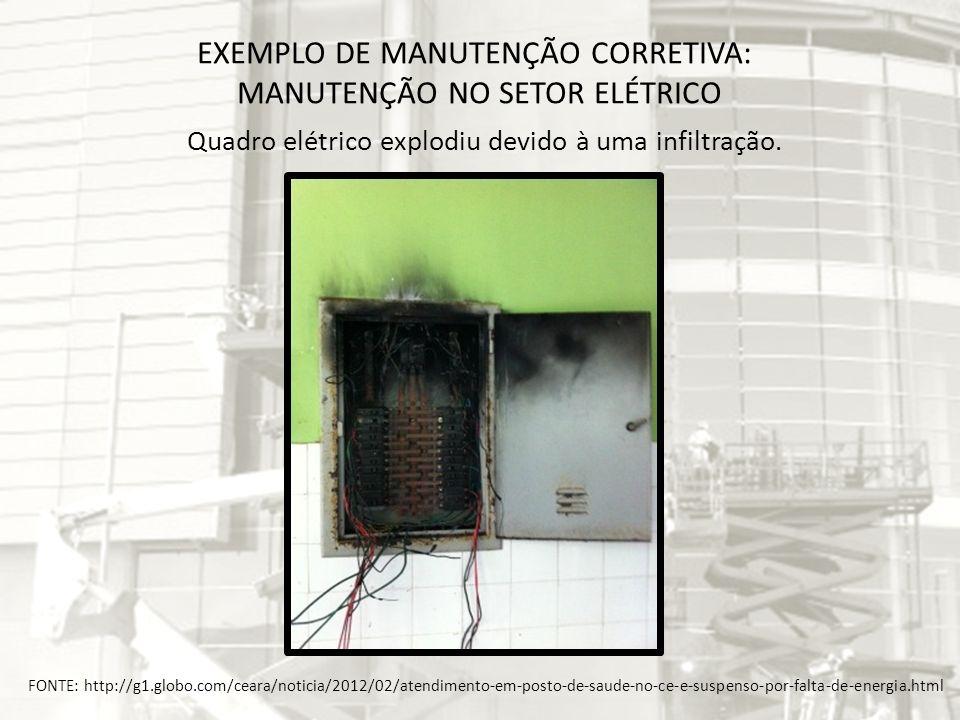 EXEMPLO DE MANUTENÇÃO CORRETIVA: MANUTENÇÃO NO SETOR ELÉTRICO