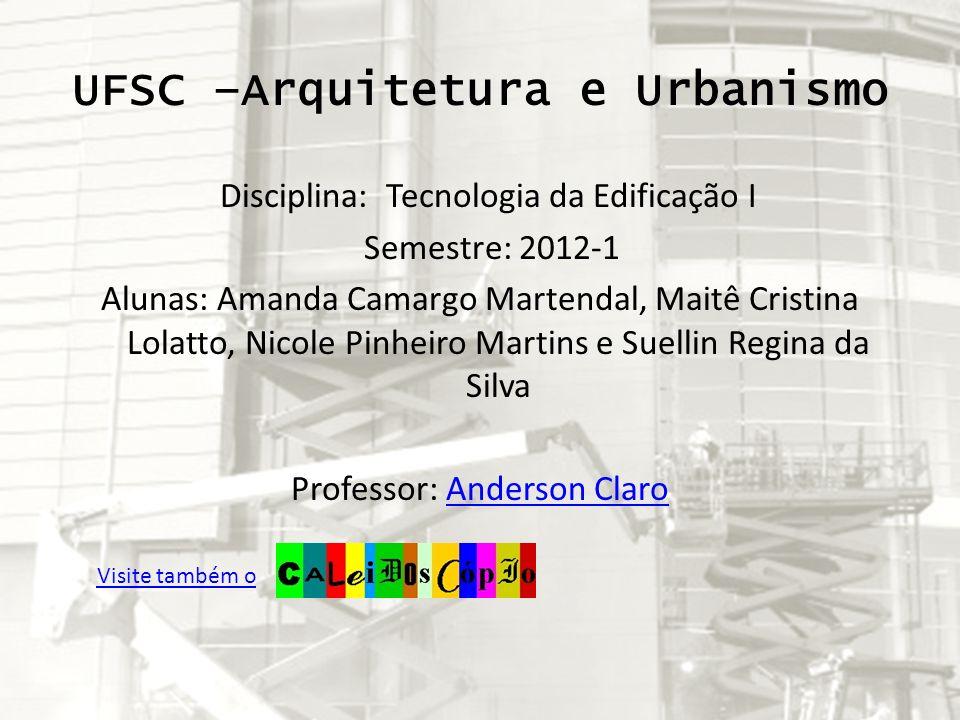UFSC –Arquitetura e Urbanismo
