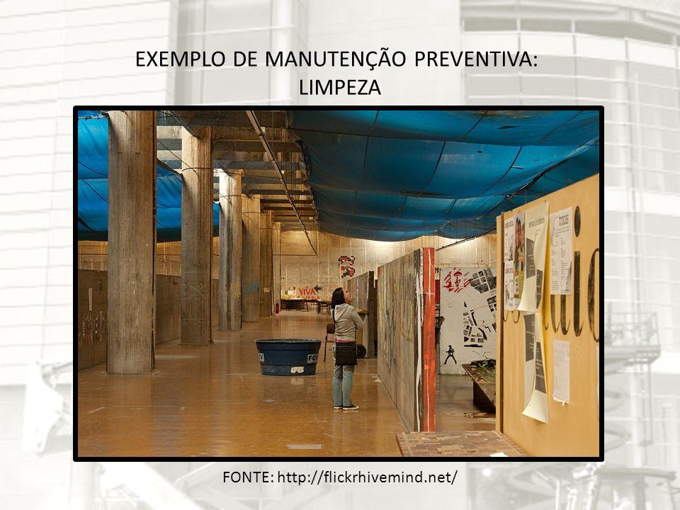 EXEMPLO DE MANUTENÇÃO PREVENTIVA: LIMPEZA