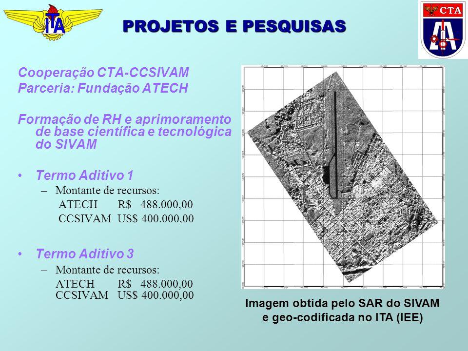 Imagem obtida pelo SAR do SIVAM e geo-codificada no ITA (IEE)