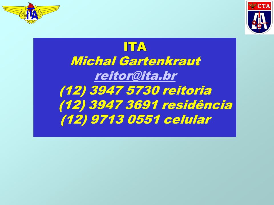 ITA Michal Gartenkraut reitor@ita