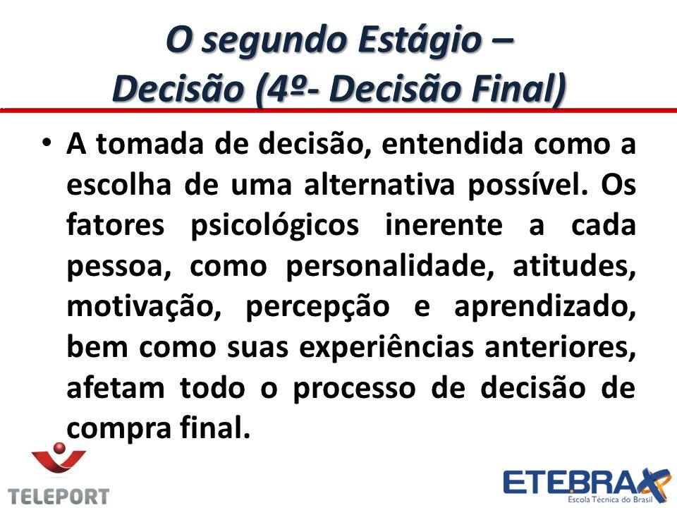 O segundo Estágio – Decisão (4º- Decisão Final)