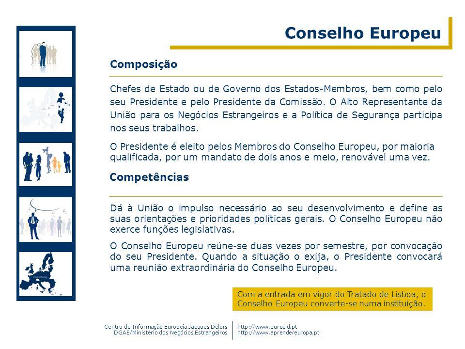 Conselho Europeu Composição Competências