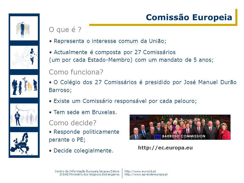Comissão Europeia O que é Como funciona Como decide