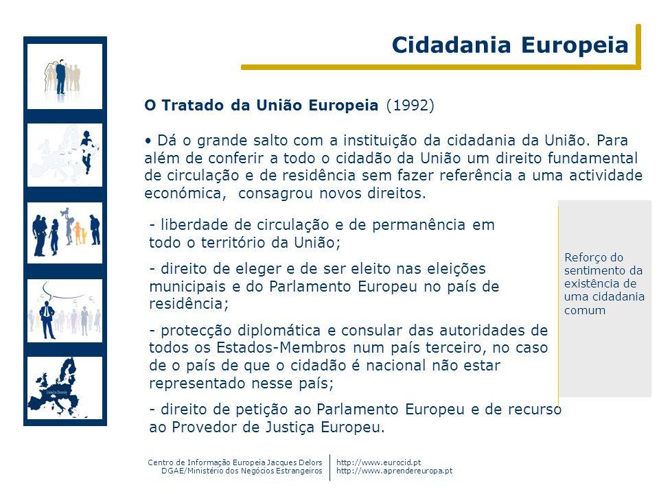 Cidadania Europeia O Tratado da União Europeia (1992)