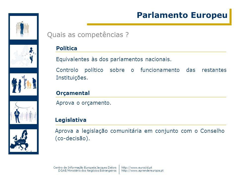 Parlamento Europeu Quais as competências Política