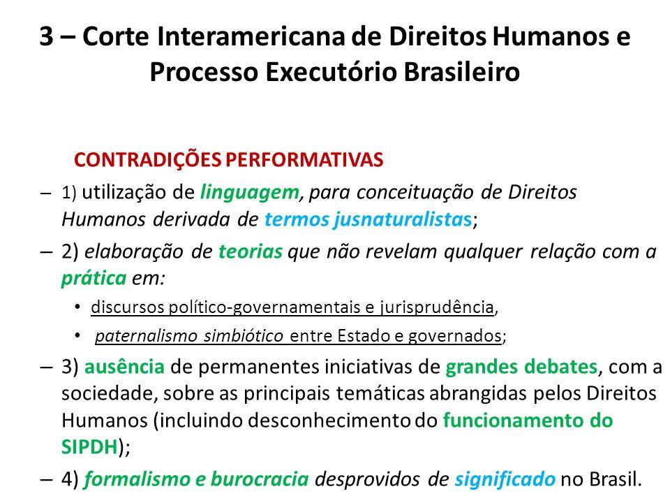 3 – Corte Interamericana de Direitos Humanos e Processo Executório Brasileiro