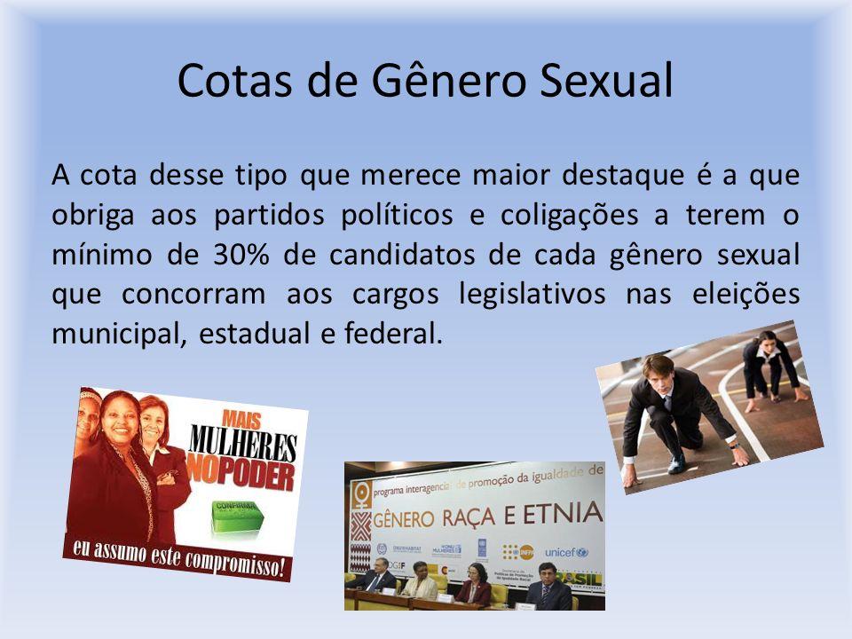 Cotas de Gênero Sexual