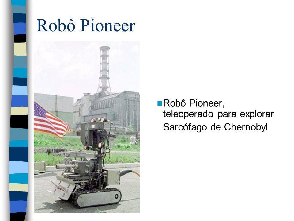 Robô Pioneer Robô Pioneer, teleoperado para explorar Sarcófago de Chernobyl